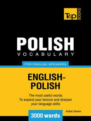 cover image of Polish Vocabulary for English Speakers